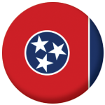 Tennessee State Flag 58mm Mirror Keyring
